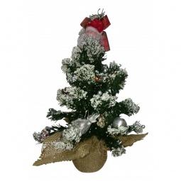 Купить Ели новогодние 'Сибим' Ель новогодняя (45 см) с украшениями ИТ1 45 (серебро)