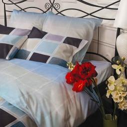 фото Постельное белье Cатин - твилл 1,5 спальное AQUAMARINE 22014 Каригуз