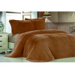 фото Плед Меховой Лама рыжий шоколад 160*220 см DCT072D-2-160 Tango