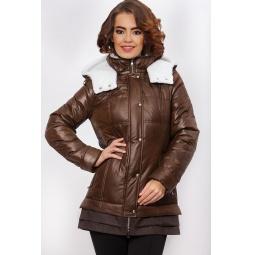 """Купить Куртка """"Сиджи"""" - коричневый"""