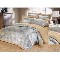 фото КПБ Жаккард с вышивкой 2,0 спальное с 4мя наволочками AMRISSE 44024 Silk-Place