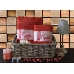 Купить Набор Махровых полотенец Рим из 2 шт 50*90 + 70*140 plt127-7 Турция
