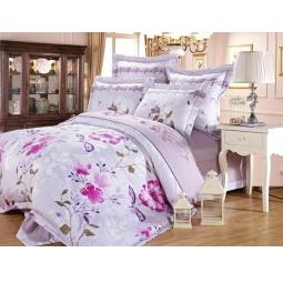 фото КПБ Жаккард с вышивкой 2,0 спальное с 4мя наволочками RUSLAND 44036 Silk-Place