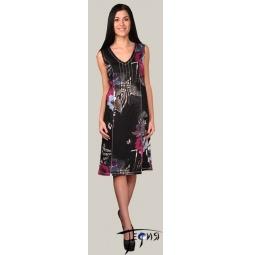 Купить Трикотажное платье без рукавов с завышенной талией арт. 6-25