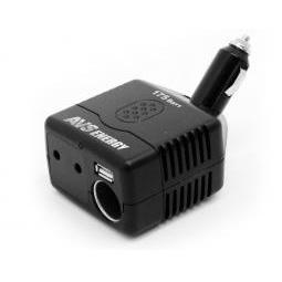 Купить Автомобильный инвертер 175Вт (преобразователь тока с 12V в 220V)