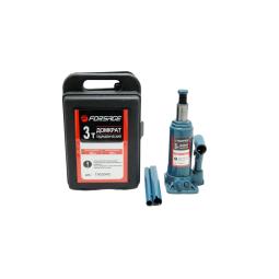 Купить Домкрат бутылочный FORSAGE T90304S, 3т с клапаном (h min 180мм, h max 350мм) в кейсе