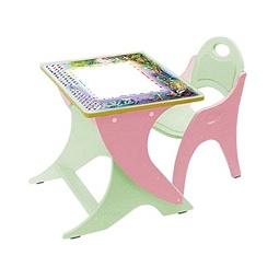 Купить Регулируемая парта и стульчик ДЕНЬ-НОЧЬ, салатовый/розовый