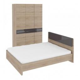 Купить Набор для спальни 'Мебель Трия' Ларго ГН-181.000 дуб сонома/какао глянец