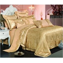 фото Постельное белье Жаккард с вышивкой двуспальный 220-127-2 Valtery
