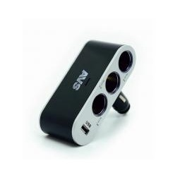 Купить Разветвитель прикуривателя 12/24 (на 3 выхода+USB) CS312U
