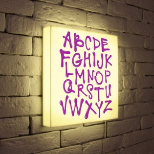 "Купить Лайтбокс ""Alphabet"" 35x35-003 FotonioBox"