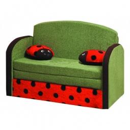 Купить Диван-кровать 'Олимп-мебель' Мася-9 Божья коровка 8171127 зеленый/красный