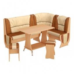 Купить Набор кухонный 'Мебель Трия' Уют-5 Люкс бук/коричневый