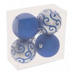 Купить Елочная игрушка 'Ремеко' Набор из 4 елочных шаров (6 см) 696286