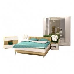 Купить Гарнитур для спальни 'Столлайн' Ирма 15 дуб сонома/белый глянец