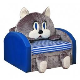 Купить Диван-кровать 'Олимп-мебель' Мася-10 Кот 8051127 синий/серый