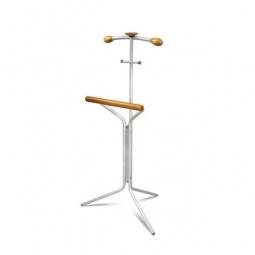 Купить Вешалка для костюма 'Мебелик' Галилео 151 алюминий/средне-коричневый