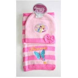 Купить Зимний набор Принцессы (шарф+шапка) розовый