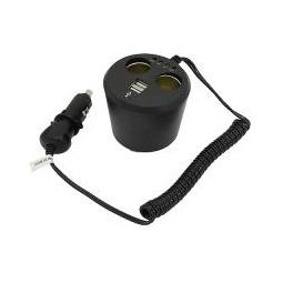 Купить Разветвитель прикуривателя в подстак. 2гн.(8А)+2USB(2х1/1х2А) удлинитель.1,2 м, инд.зарядки АКБ