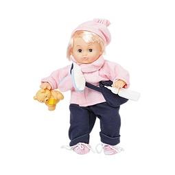 Купить Пупс в розовой шапочке и с медвежонком