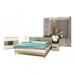 Купить Гарнитур для спальни 'Столлайн' Ирма 18 дуб сонома/белый глянец