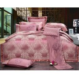 фото Постельное белье Жаккард с вышивкой двуспальный 220-128-2 Valtery