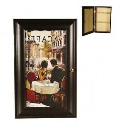 Купить Ключница 'Акита' (16.5х26.5 см) Парижское кафе P311-10