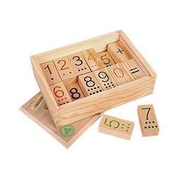 Купить Кубики деревянные АРИФМЕТИКА тактильные, в ящике