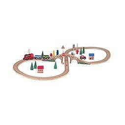 Купить Железная дорога ВОСЬМЕРКА с электрическим паровозиком, 40 элементов