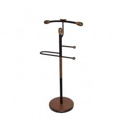 Купить Вешалка для костюма 'Мебелик' Галант 332 черный/средне-коричневый