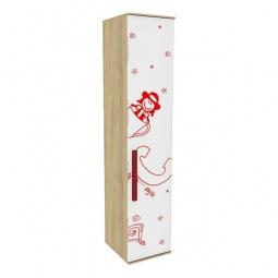 Купить Шкаф для белья 'Любимый Дом' Алфавит 506.110 сантана/белый/красный