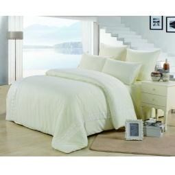 фото Постельное белье Софткоттон с гипюром 2.0 спальное MG-02-2 Valtery