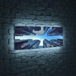 """Купить Лайтбокс панорамный """"Небоскребы"""" 60x180-p006 FotonioBox"""