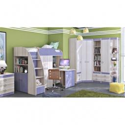 Купить Набор для детской 'Мебель Трия' Радуга-2+Индиго ГН-84.00.021 ясень коимбра/навигатор