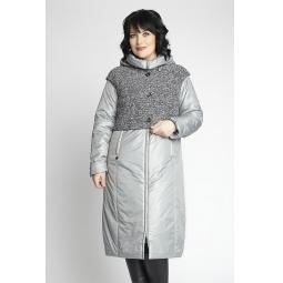"""Купить Пальто """"Дечизо"""" - серый"""