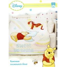 Купить Постельное белье для детей Винни Пух на радуге Бязь ВН-К-1 Мона Лиза