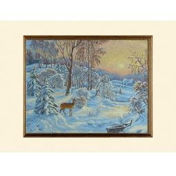 Купить Картина из гобелена - Зимний пейзаж