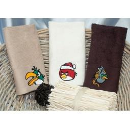 Купить Набор Бамбуковых полотенец Angry Birds из 3х штук 30*50 см plt150-1 Турция