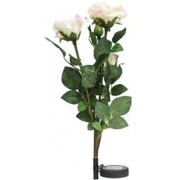 """Купить Светильник садово-парковый на солнечной батарее """"Ветка розы"""", белый, 3 LED (белый), H 80cм , PL308"""