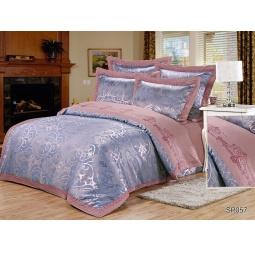 фото КПБ Жаккард с вышивкой Семейный с 2мя наволочками BAKEMARE 64021 Silk-Place