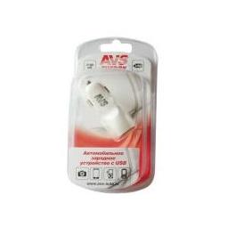 Купить USB автомобильное зарядное устройство AVS 2 порта UC-423