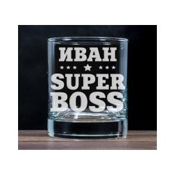 """Купить Бокал для виски """"Super `Boss"""""""
