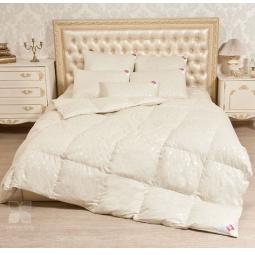Купить Теплое пуховое одеяло Камелия бежевое 140х205 см 274158 Легкие Сны