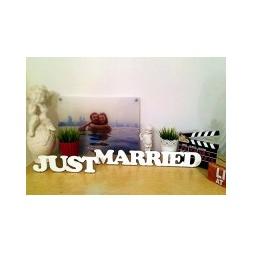 """Купить Декоративные слова """"Just Married"""" из дерева"""
