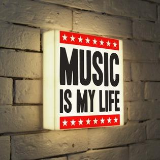 """Купить Лайтбокс """"Music is my life"""" 25x25-072 FotonioBox"""
