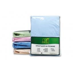 Купить Голубая простыня Бязь однотонная на резинке 140х200