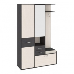 фото Гарнитур для прихожей 'Мебель Трия' Пикассо 2.1 венге цаво/дуб белфорт