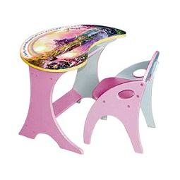 Купить Стол-капля ВОЛШЕБНЫЙ ОСТРОВ и стульчик, розовый