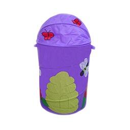 Купить Корзина для игрушек БАБОЧКИ фиолетовая