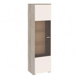 Купить Шкаф-витрина 'Мебель Трия' Эйва ТД-195.03 дуб верцаска/бежевый